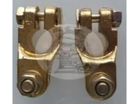 Клемма АКБ 12/24V с латунь, болтовое соединение провода (комплект)