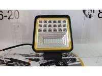 Фара светодиодная CH084 126w со светодиодным кольцом
