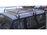 Багажник на УАЗ Хантер двухсекционный (8 опор)