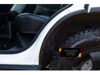 Накладки на внутренние части задних арок без скотча Lada (ВАЗ) Niva 2020-