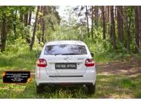 Накладки на задние фонари (реснички) Lada (ВАЗ) Granta лифтбек 2014-2018 (I дорестайлинг)