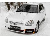 Зимняя заглушка решётки переднего бампера Lada (ВАЗ) Приора (хэтчбэк) 2014-2018