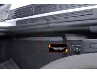 Накладки на ковролин порогов передних дверей Lada (ВАЗ) Largus фургон 2012-2019